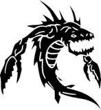 Monstre de mer - illustration de vecteur. Vinyle-prêt. Image stock