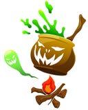 Monstre de potiron de Halloween à l'arrière-plan d'isolement Image stock