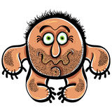 Monstre drôle de bande dessinée avec la chaume, illustration de vecteur Image stock