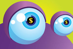 monstre du dollar de crise Image libre de droits