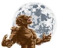 Monstre effrayant d'horreur de pleine lune de loup-garou Photographie stock
