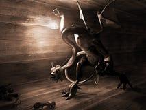 Monstre et rats Images libres de droits