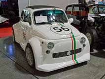 Monstre Fiats 500 in Mailand Autoclassica 2014 Lizenzfreie Stockfotos