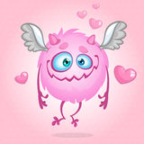 Monstre mignon dans l'amour Illustration pour le jour de rue Valentine Vecteur Images libres de droits