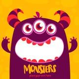 Monstre mignon de dessin animé Émotion étonnée de monstre Illustration de vecteur de Veille de la toussaint illustration libre de droits
