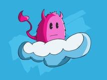 Monstre montant un nuage Images stock