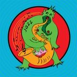 Monstre-musicien Illustration Libre de Droits