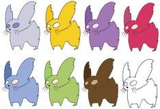 Monstre réglé drôle d'aspiration de main de couleur de rat de griffonnage de bande dessinée d'impression illustration stock