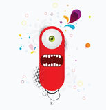 Monstre rouge de dessin animé Photographie stock libre de droits