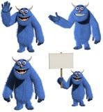 Monstre velu de jouet de dessin animé Image stock