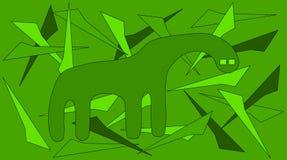 Monstre vert Photo libre de droits