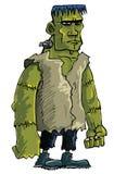 Monstre vert de Frankenstein de dessin animé Image stock