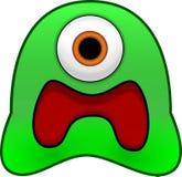 Monstre vert effrayé de substance gluante illustration de vecteur