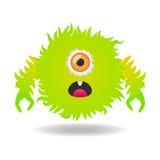 Monstre vert mignon Images stock