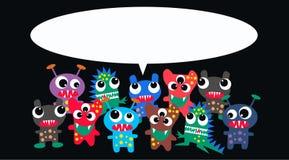 Monstres avec un message Photo stock