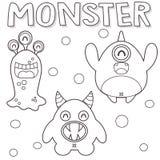 Monstres décrits illustration stock