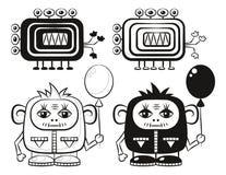 Monstres de bande dessinée réglés Images libres de droits