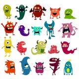 Monstres de bande dessinée réglés Monstre mignon de jouet coloré Vecteur Photo stock