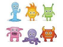 Monstres de dessin animé Images stock