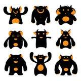 Monstres de dessin animé illustration stock