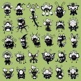 Monstres de dessin animé Photo stock