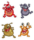 Monstres de dessin animé de danger illustration libre de droits