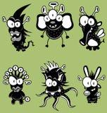 Monstres de dessin animé, lutins, ordinateurs de secours Photo libre de droits