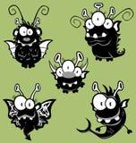 Monstres de dessin animé, lutins, ordinateurs de secours Image libre de droits