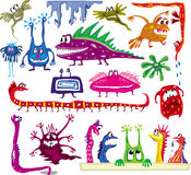 Monstres de dessin animé Photographie stock