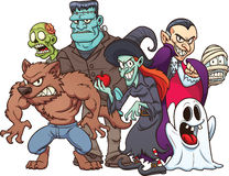 Monstres de Halloween Photographie stock