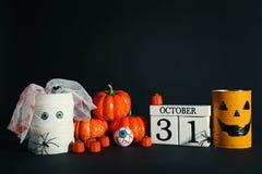 Monstres de Halloween avec des potirons Photo libre de droits