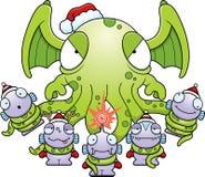 Monstres de Noël de bande dessinée Photographie stock libre de droits