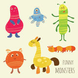Monstres drôles illustration de vecteur