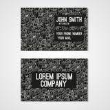 Monstres drôles de griffonnage de petit morceau de calibre de carte de visite professionnelle de visite Template de corporation p Photo stock