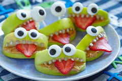 Monstres fantasmagoriques de partie de Halloween Photographie stock libre de droits