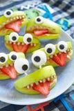 Monstres fantasmagoriques de partie de Halloween Photographie stock