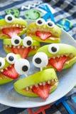 Monstres fantasmagoriques de partie de Halloween Images libres de droits