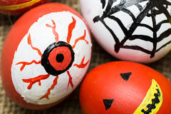 Monstres fous d'oeufs pour Halloween de fête Image stock