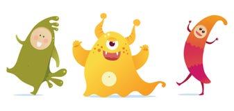 Monstres heureux Photo libre de droits
