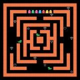 Monstres Maze Game Vector Design Photos libres de droits