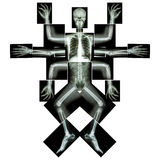 Monstret har många armen (Hel kropp för röntgenstråle: head abdom för rygg för hjärta för lunga för stöd för bröstkorg för siffra Fotografering för Bildbyråer