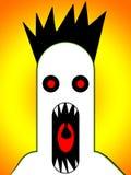 Monstro assustador que grita 4 Fotografia de Stock