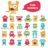 Monstro bonitos ajustados Imagem de Stock Royalty Free
