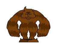 Monstro cagado Anormal do Turd Boneca de pano do tombadilho ilustração do vetor do demônio ilustração stock