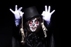 Monstro com esqueleto Fotografia de Stock Royalty Free