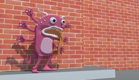 Monstro cor-de-rosa Ilustração Stock