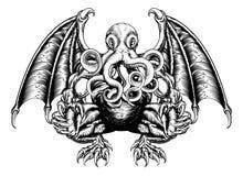 Monstro de Cthulhu ilustração stock