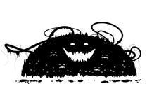 Monstro de Grunge ilustração royalty free