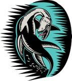 Monstro de Loch Ness da serpente de mar ilustração do vetor