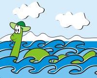 Monstro de Loch Ness Foto de Stock Royalty Free